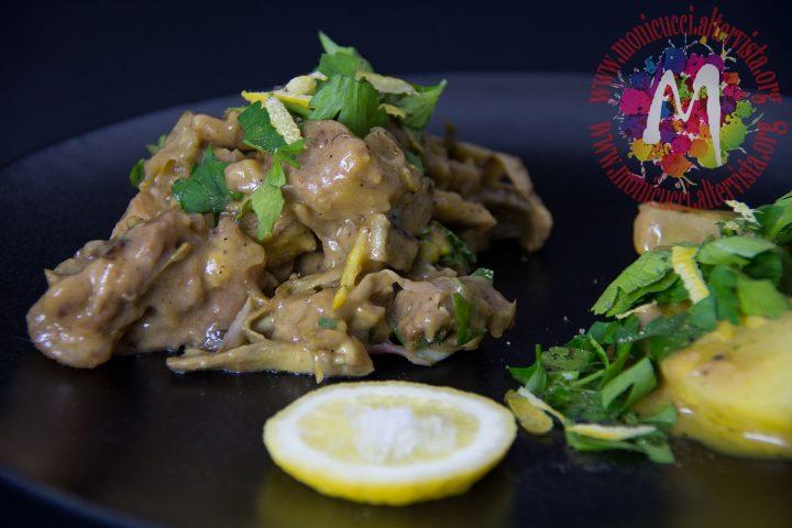 Fricassea di vitello con patate e carciofi5
