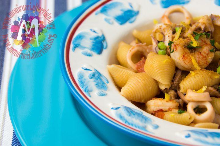 Conchigliette risottate con gamberi, calamari e bottarga4